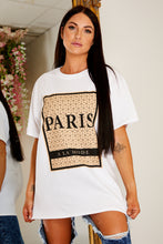 Load image into Gallery viewer, Oversized Paris t shirt WHITE