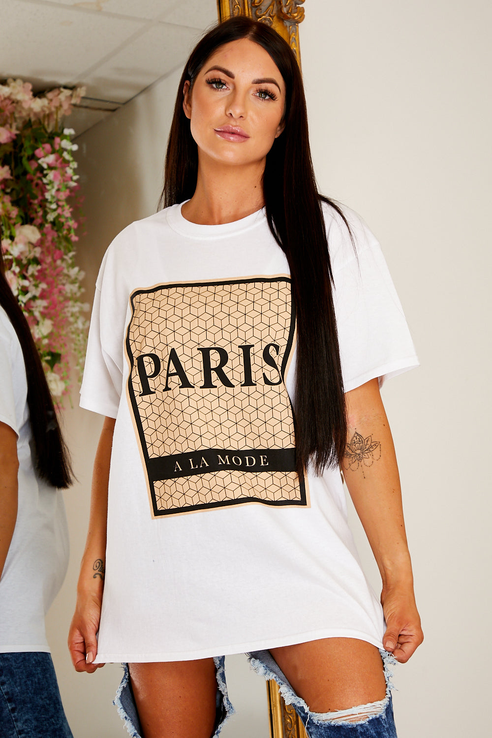 Oversized Paris t shirt WHITE