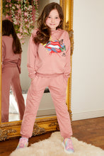 Load image into Gallery viewer, Mini Attire lip jog suit PINK