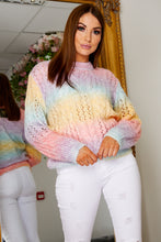 Load image into Gallery viewer, Missi pastel rainbow jumper