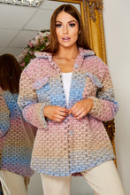 Load image into Gallery viewer, Blue mix multi knit shacket