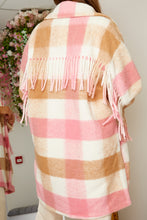 Load image into Gallery viewer, Longline tassel shacket PINK