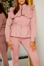 Load image into Gallery viewer, Frill jog suit PINK