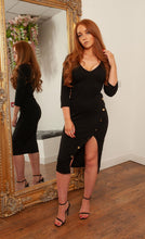 Load image into Gallery viewer, Louvre midi dress BLACK