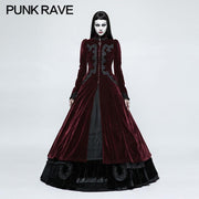 Galace Swallow Tail Long Gothic Dresses Slim And Elegant Style Women's Dresses
