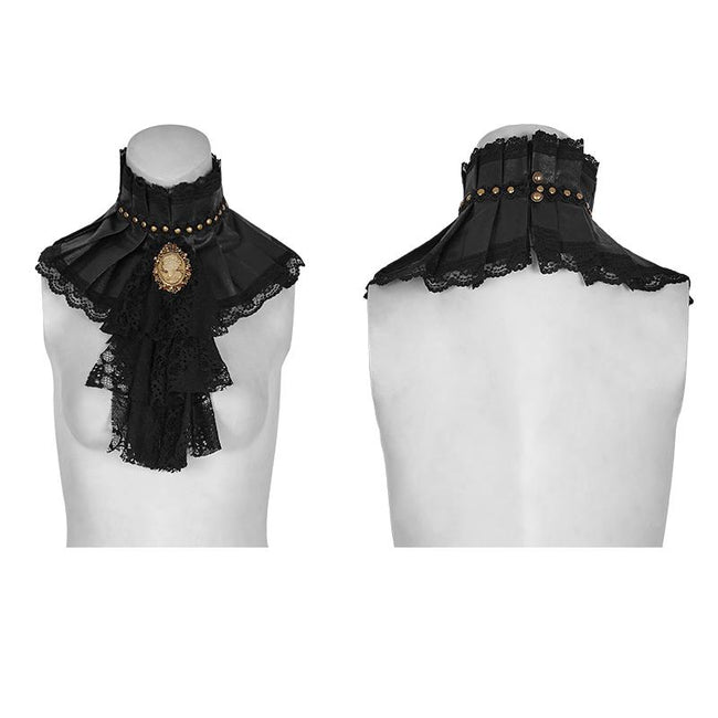 Black Dual-use Lace Punk Accessories Necktie For Women