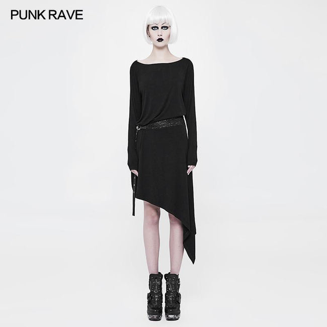 Daily A Word Collar Loose Punk Dress With Waistband