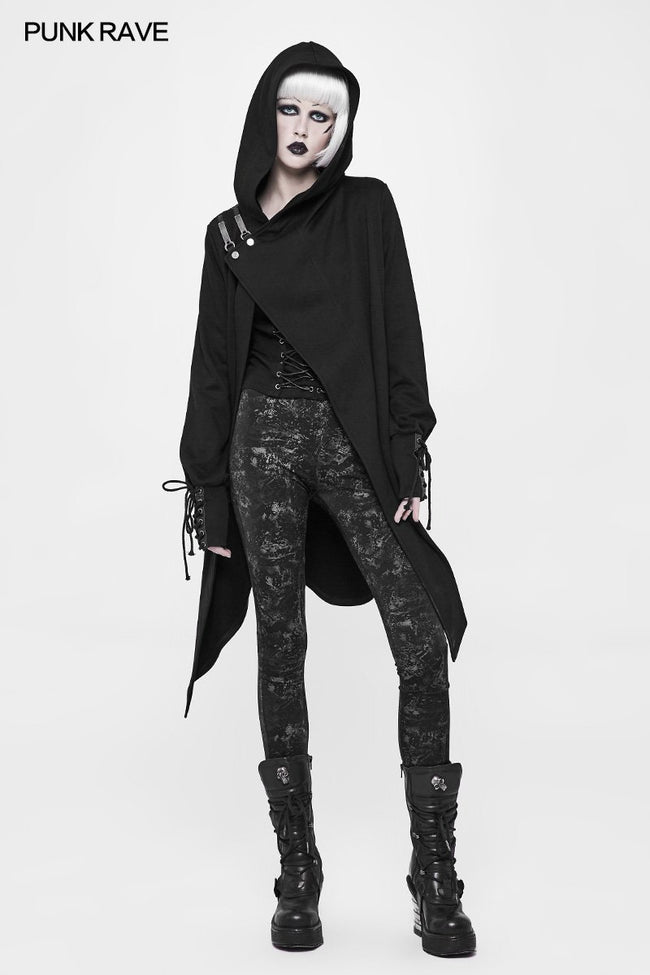 Witch Cardigan Sweater Punk Coat With Hood