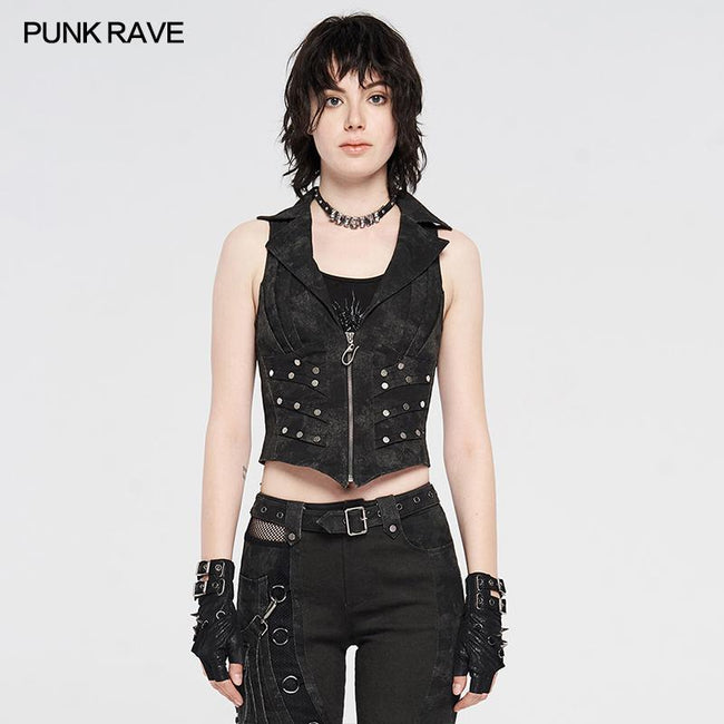 Doomsday ruins metal punk vest