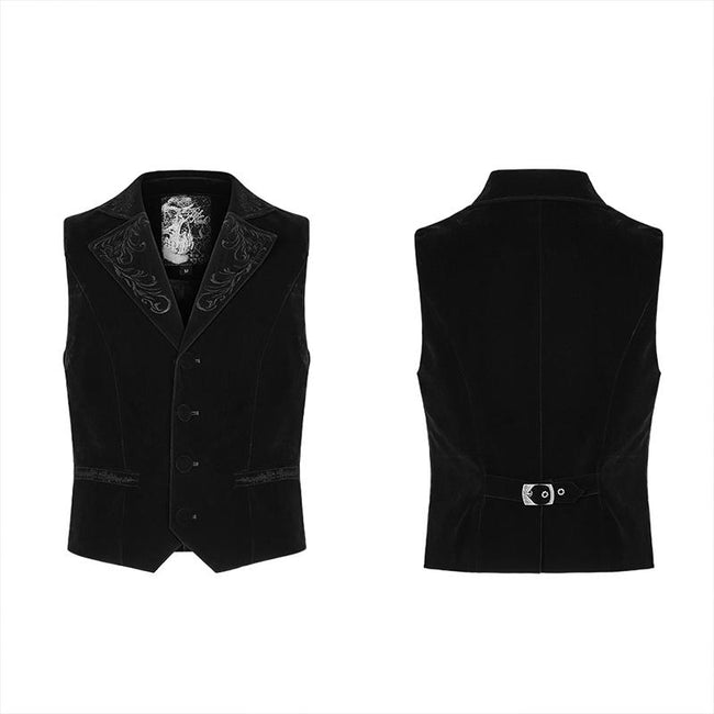 Exquisitely embroidered gothic vest