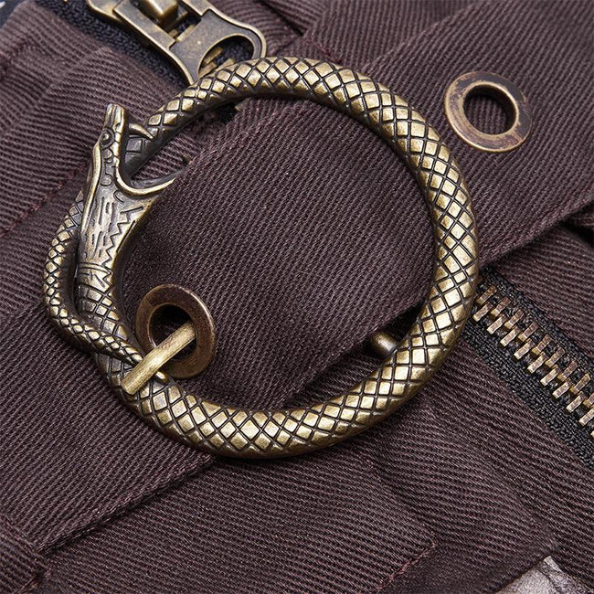 Steampunk viper stonewashing shorts