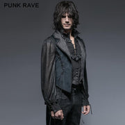 Blue Long Gorgeous Tuxedo 100% Polyester Gothic Coat