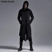 Punk  hoodie medium-length coat