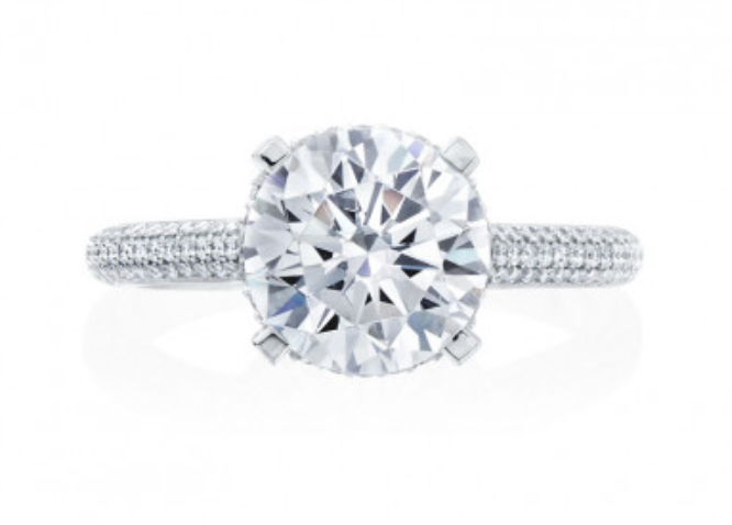 Moyer Collection 18K White Gold Pave Diamond Engagement Ring