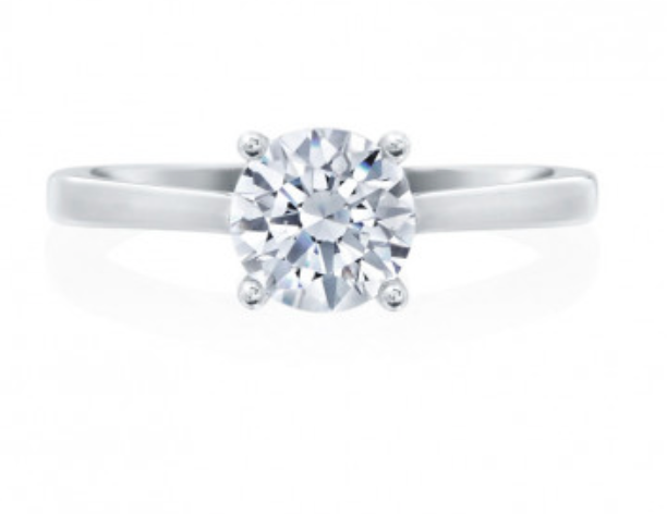 Moyer Collection 18K White Gold Solitaire Engagement Ring