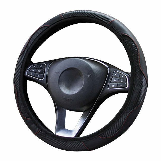 Steering Wheel Cover  Breathable Anti Slip PU 37-38cm
