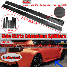 Load image into Gallery viewer, Universal 6PCS Carbon Look Side Skirt Extensions