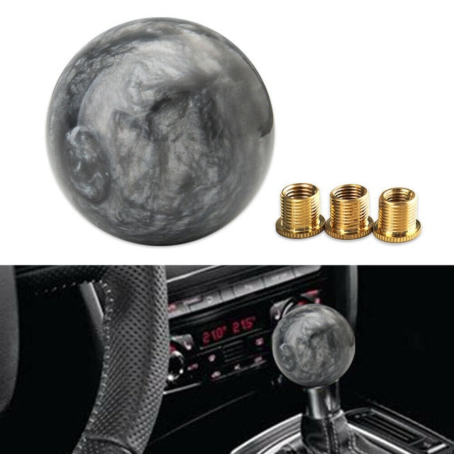 Marble Ball Shift knob With Adapters For Manual Car