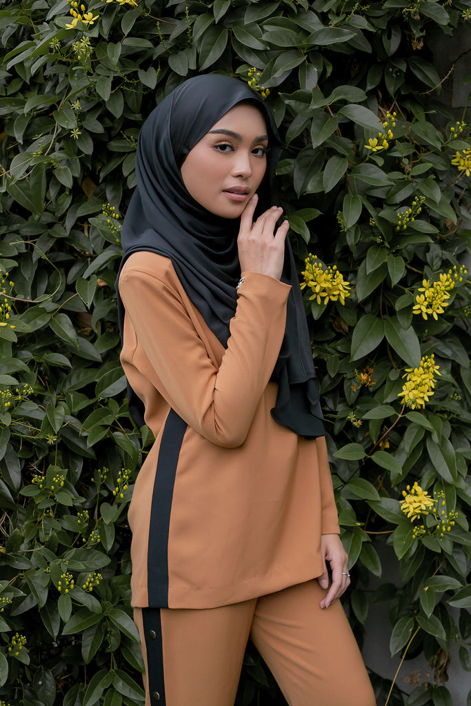 SABRINA SUIT - (SRT03 - BLACK CARAMEL)