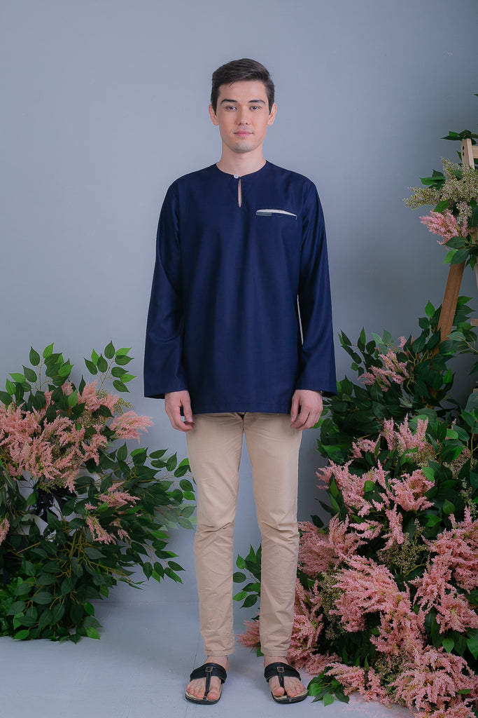HAYQAL KURTA (HYQ04 - NAVY MIDNIGHT)