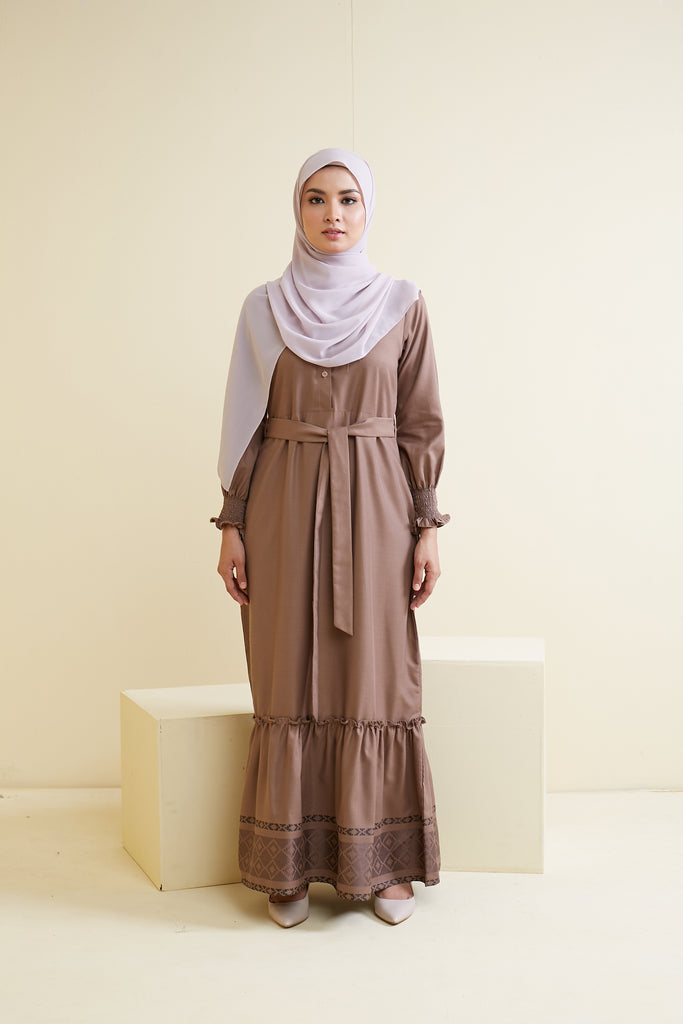 LARISSA DRESS (LSD02 - SANDY BROWN)