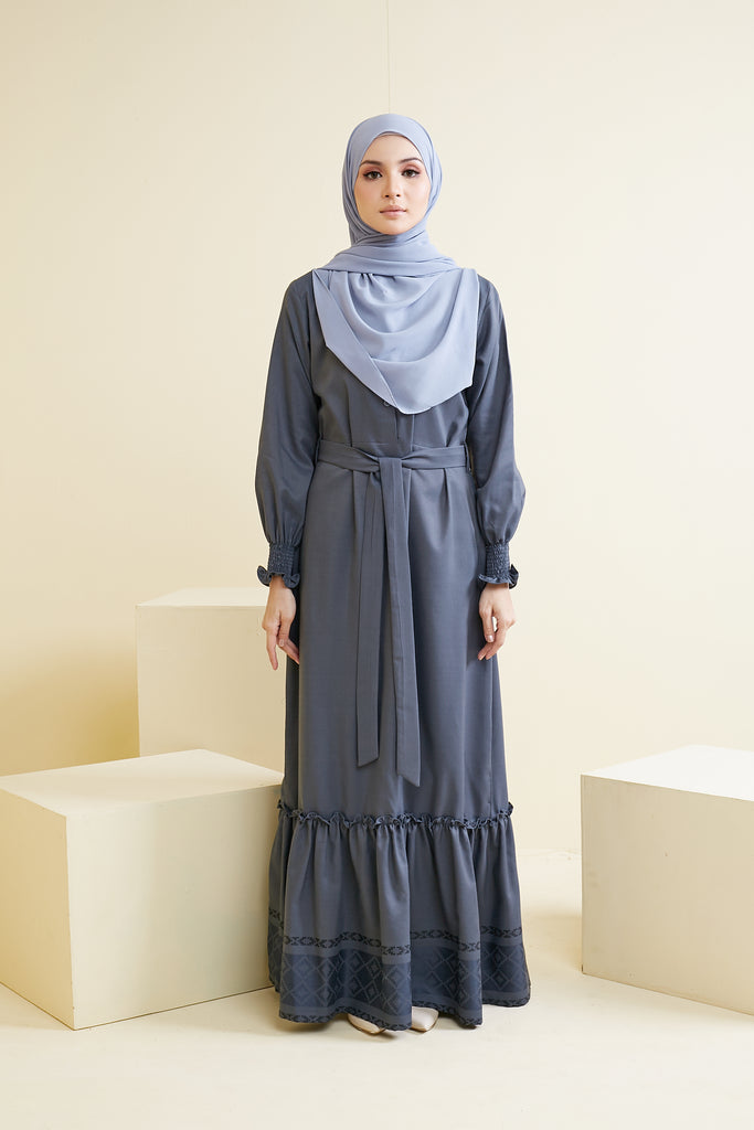 LARISSA DRESS (LSD05 - STONE GREY)