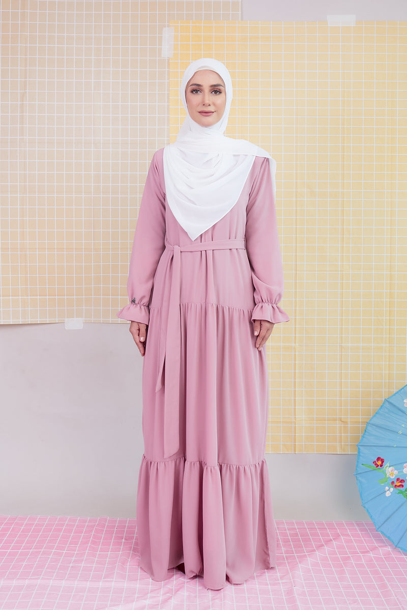 DELFINA DRESS (DFD03 - PINK BLOSSOM)