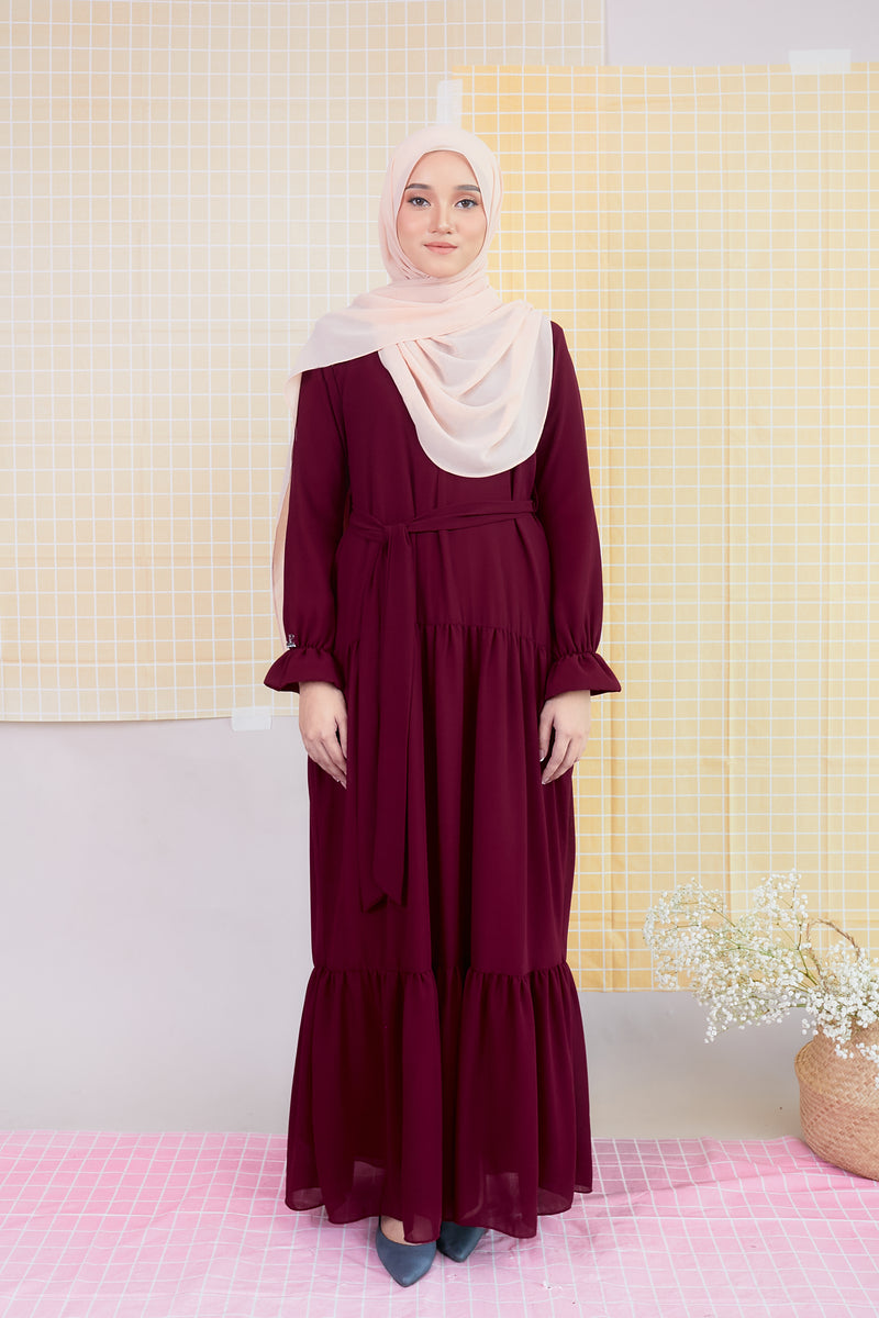DELFINA DRESS (DFD04 - DAHLIA MAROON)