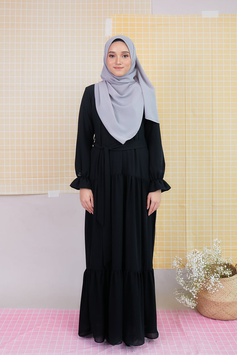 DELFINA DRESS (DFD06 - BLACK VANILLA)
