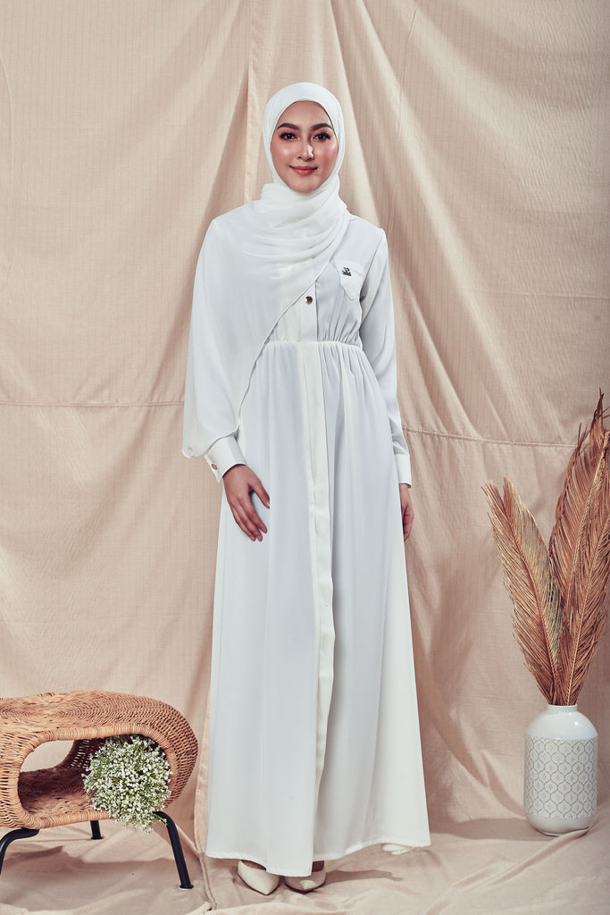 MELVINA DRESS (MVD01 - IVORY WHITE)