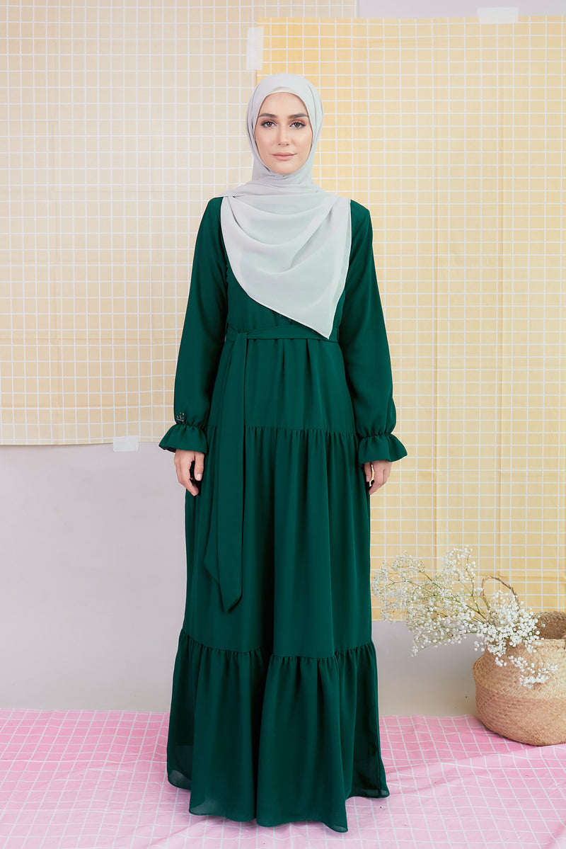 DELFINA DRESS (DFD05 - LEAF EMERALD)
