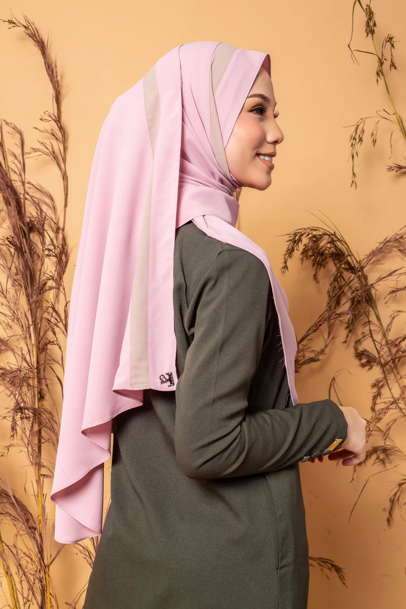 AREEYA PREMIUM SHAWL ( AYS04 - LIGHT CORAL)