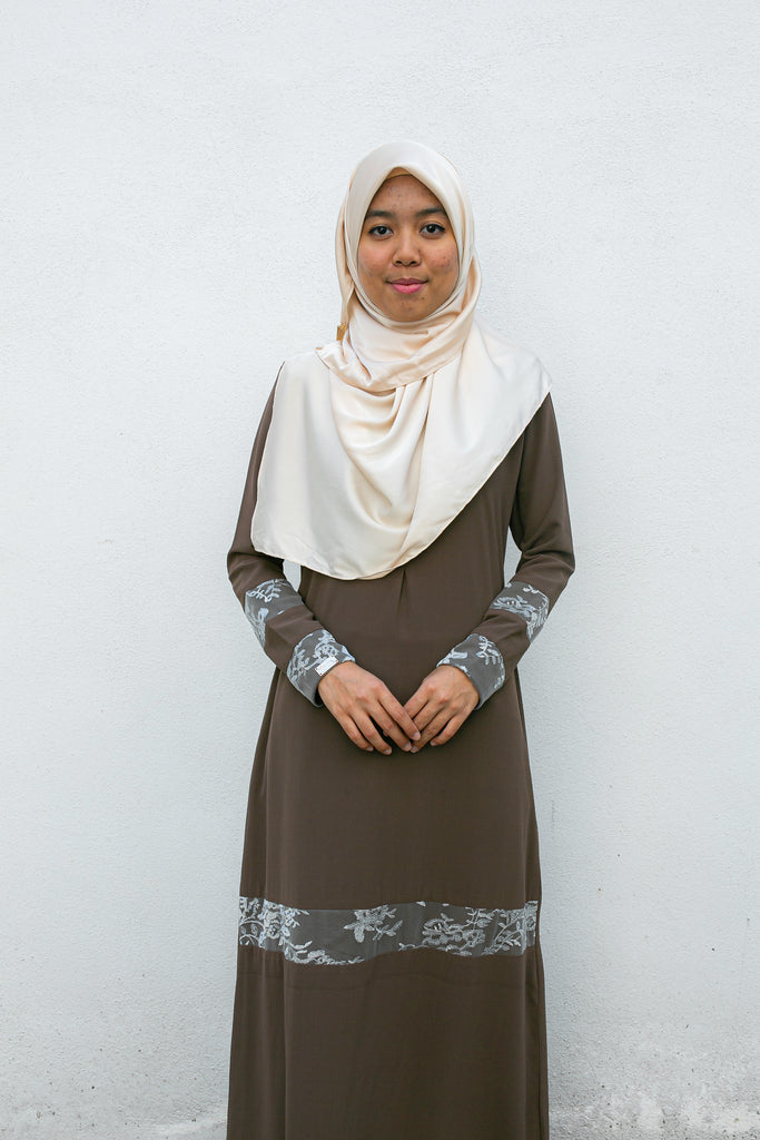 AREEYA LUXE JUBAH (ALJ03 - SADDLE BROWN)