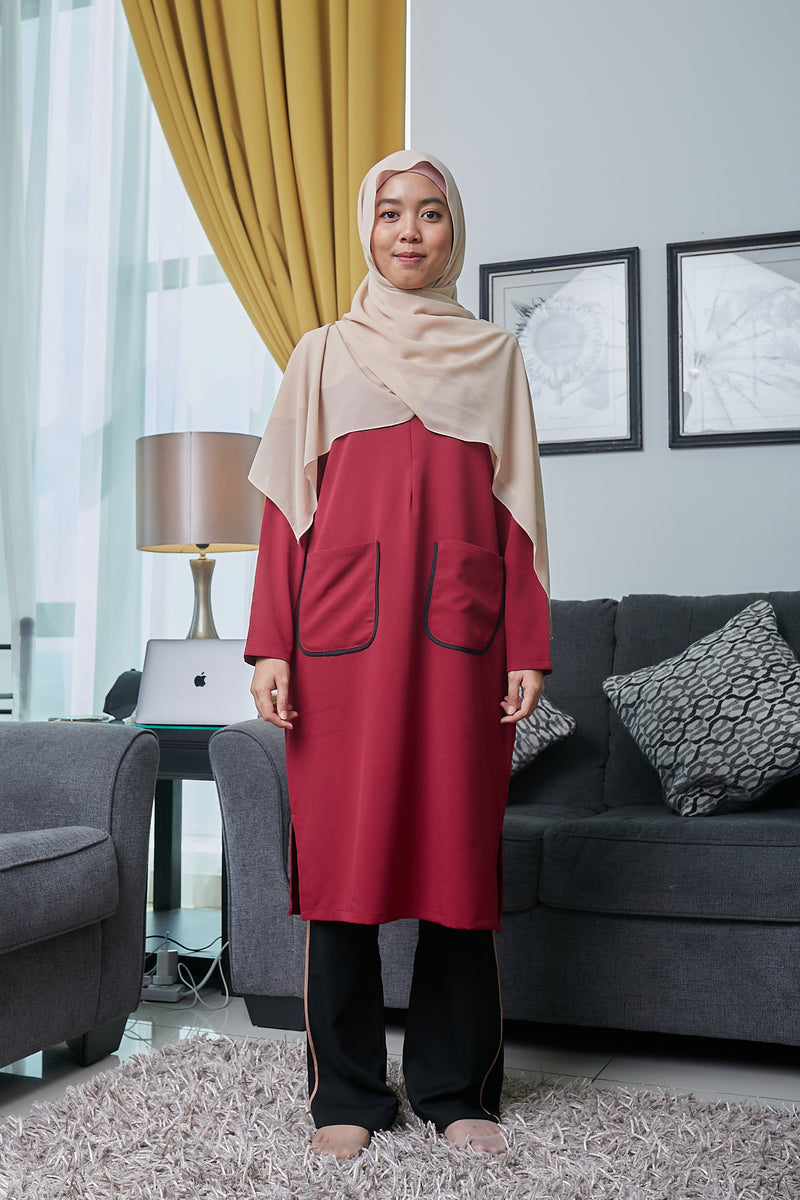 ARYNA TUNIC VOL 3 (ART305 - BURGUNDY)