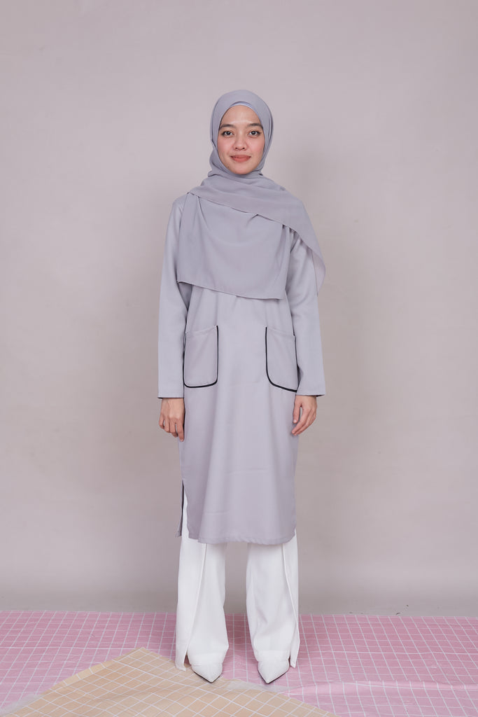 ARYNA TUNIC VOL 3 (ART302 - SILVER GREY)