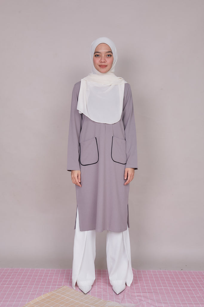 ARYNA TUNIC VOL 3 (ART303 - ASHY GREY)