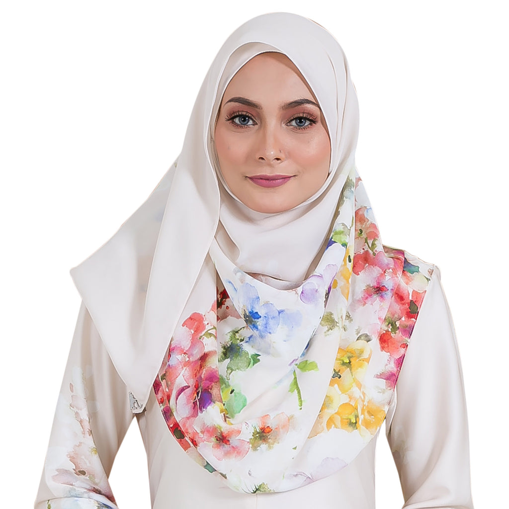 VERONEERA SHAWL (VRS04 - ROYAL CREAM)