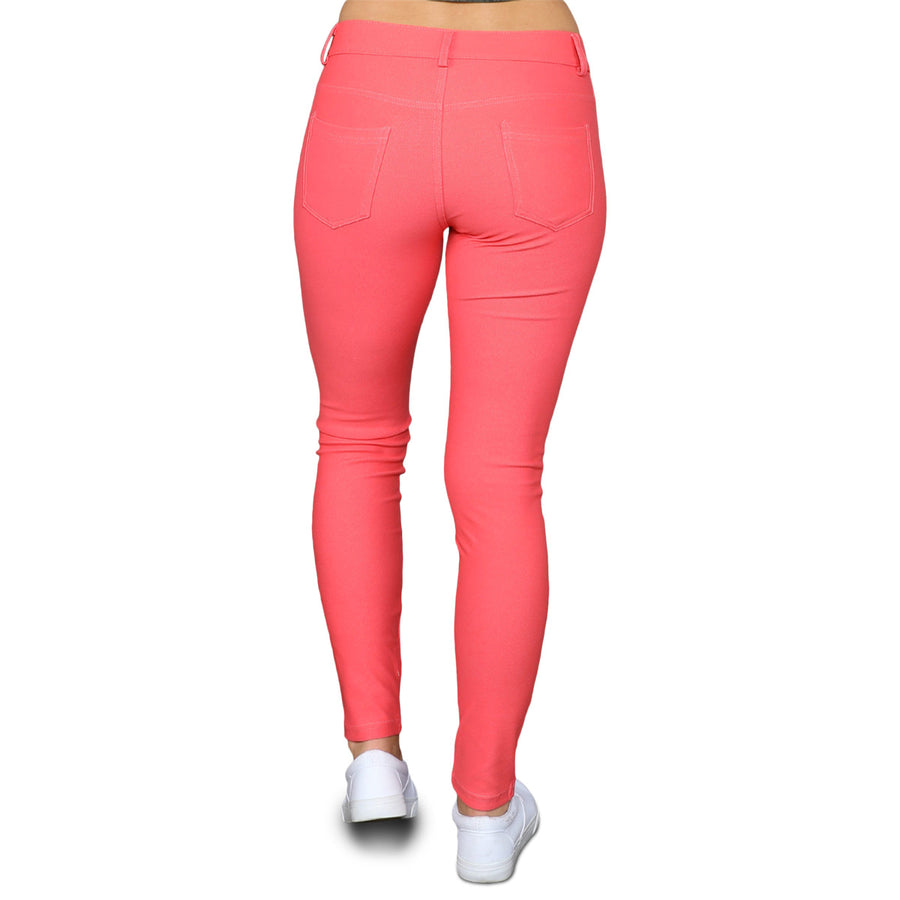 Colored Jeggings - Coral - Cozi Bear Boutique