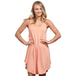 Scoop Neck Ballet Tunic - Peach - Cozi Bear Boutique