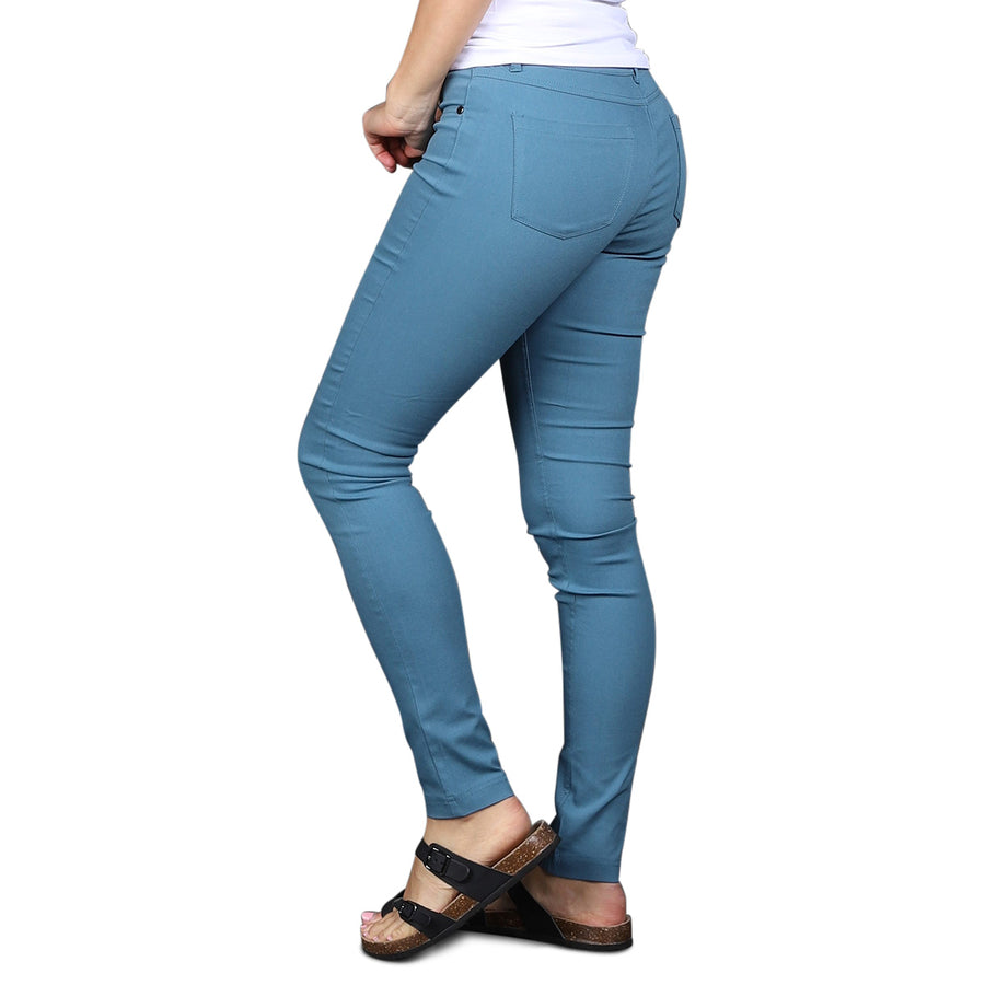 Stretch Skinny Pants - Blue Shadow - Cozi Bear Boutique