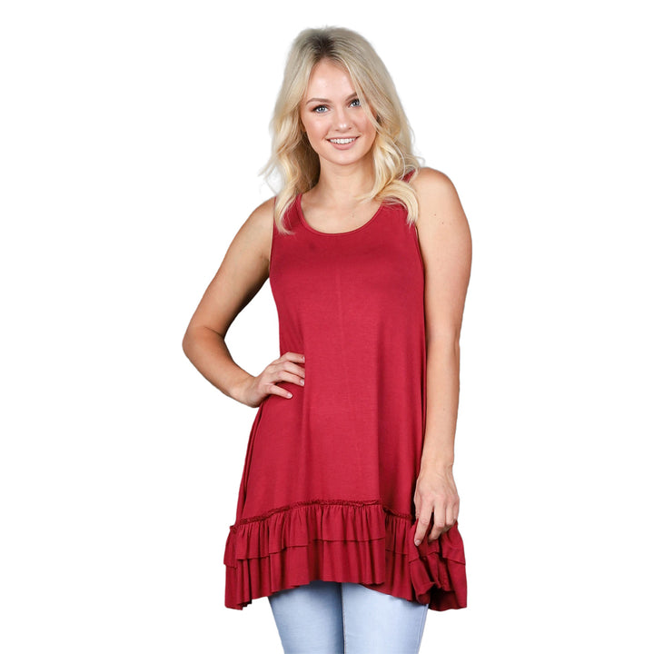 Ruffle Tank Tunic - Cozi Bear Boutique