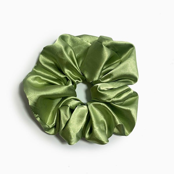 Afroani Mint oversized satin scrunchie