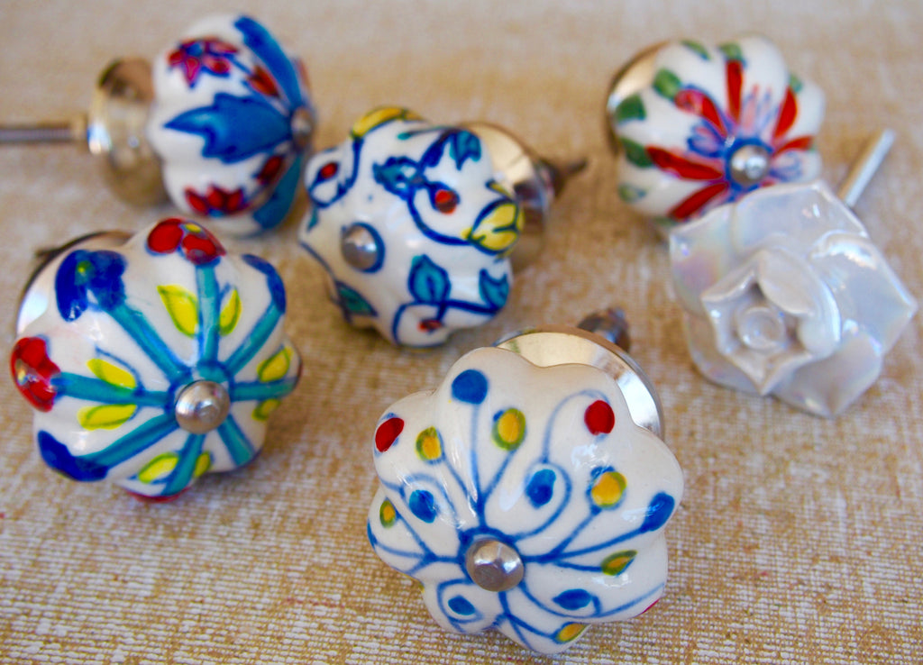 Painted Ceramic Door Knobs 3cm x 2cm