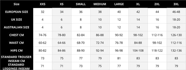 ekoluxe womens clothing size chart