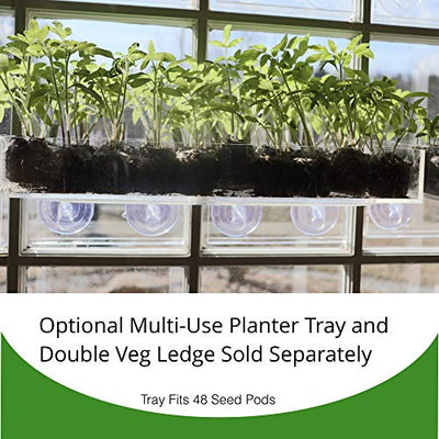 Window Garden Fiber Soil Direct Plant Seed Starters (36mm) – 48 Pods - use with our Seed Starter Kit or Any Tray. Expands with Water, Grow Herbs, Flowers and Vegetables. No Messy Soil, Easy,Successful