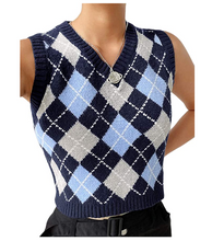 Load image into Gallery viewer, Y2K Sweater Vest Cropped