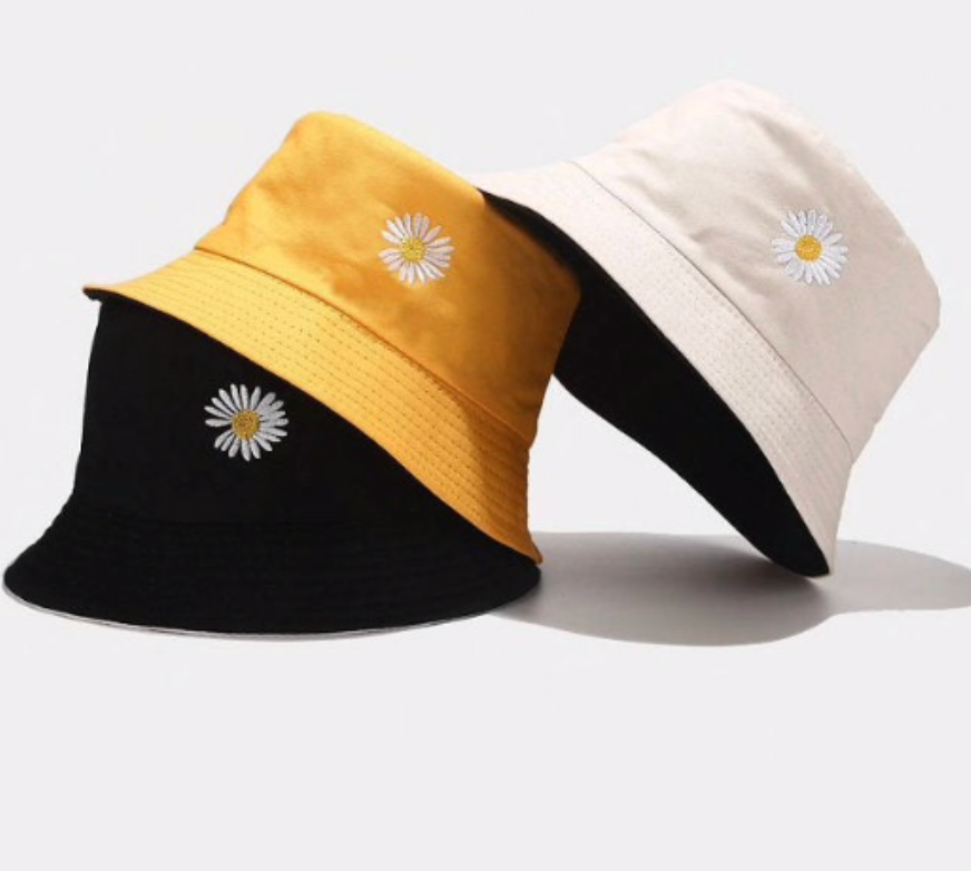 Y2K Aesthetic Daisy Bucket Hat
