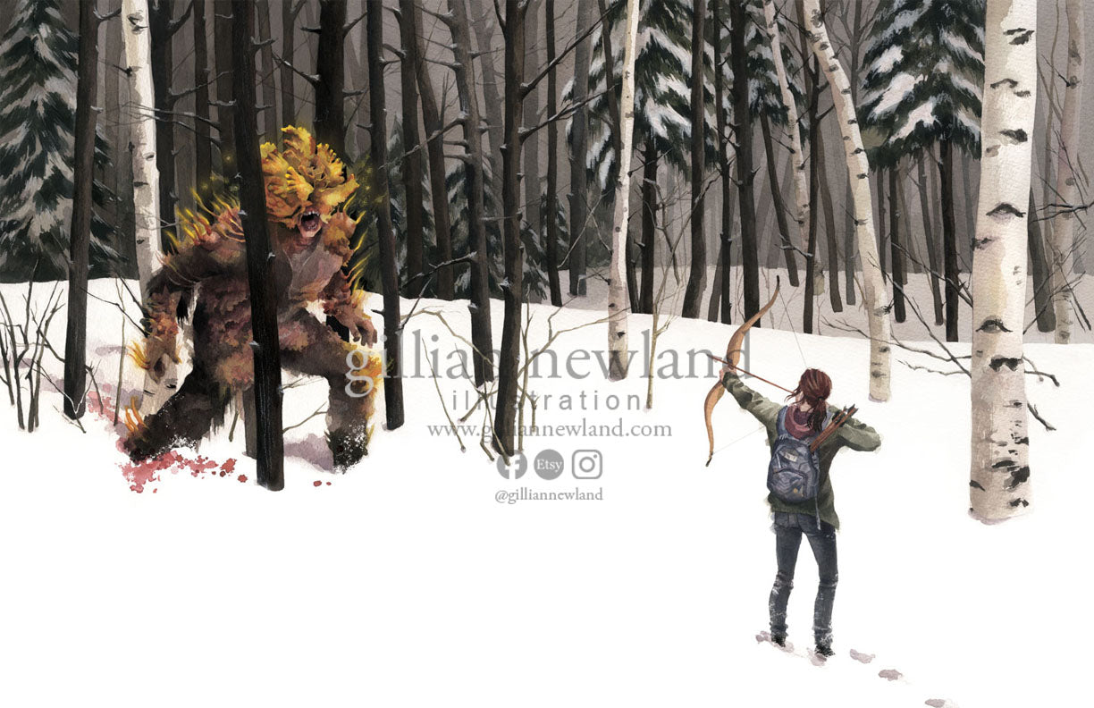 Hunter In The Snow (Ellie, The Last of Us)