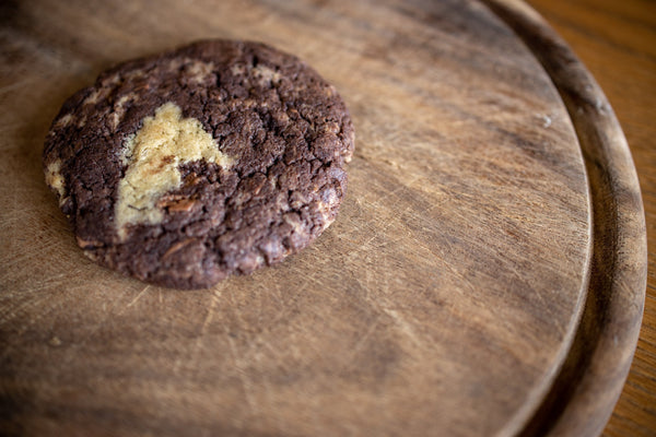 Oversized Peanut Butter and Chocolate Cookie