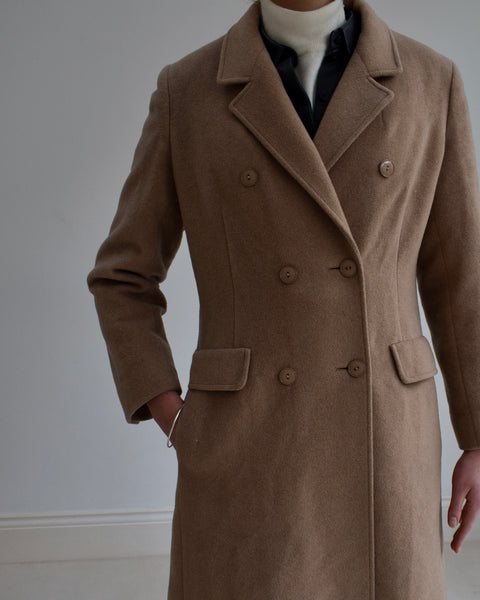 Double Breasted Long Overcoat